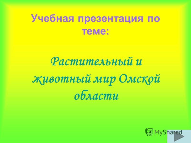 Учебная презентация по теме: Растительный и животный мир Омской области