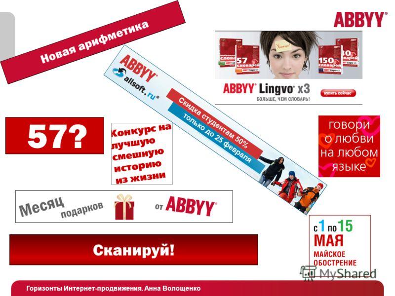Горизонты Интернет-продвижения. Анна Волощенко