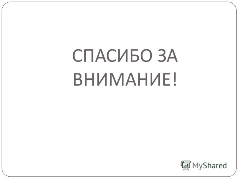 СПАСИБО ЗА ВНИМАНИЕ !