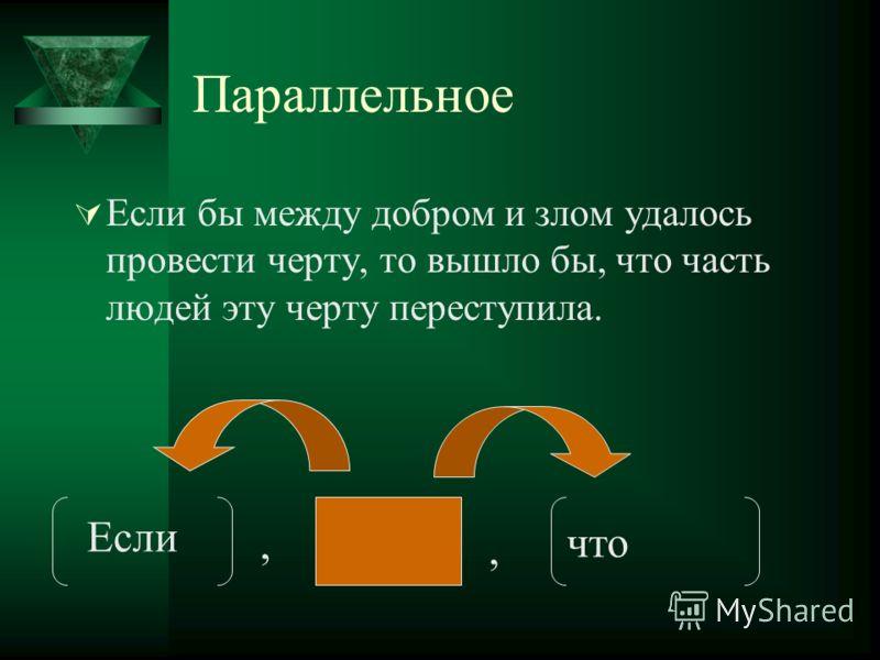 Параллельное Если бы между добром и злом удалось провести черту, то вышло бы, что часть людей эту черту переступила. Если что,,