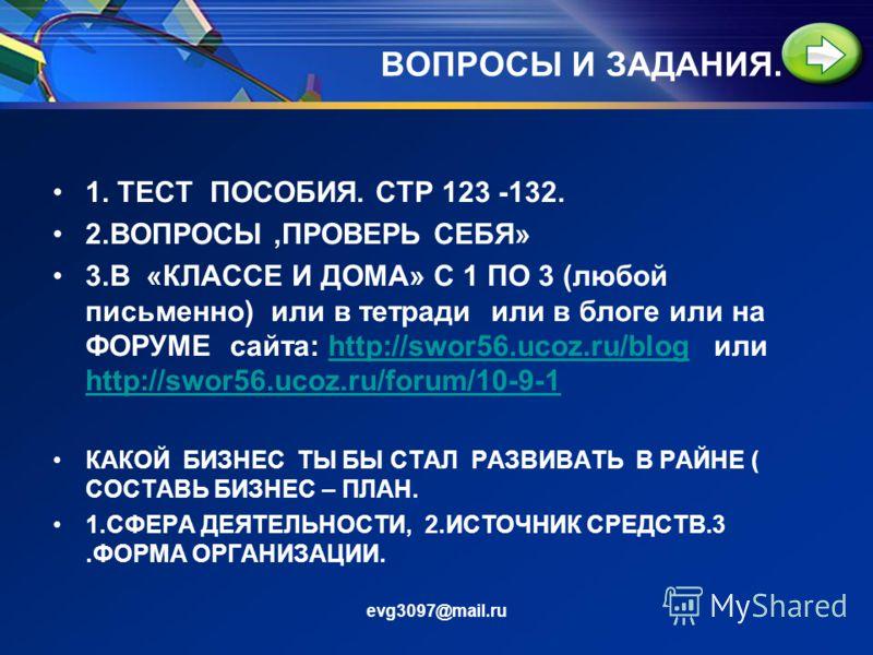 ВОЗВРАЩЕНИЕ К ПРОБЛЕМЕ evg3097@mail.ru ПРЕДПРИМАТЕЛЬСТВО: ЧТО ХОРОШО…А ЧТО ПЛОХО..?