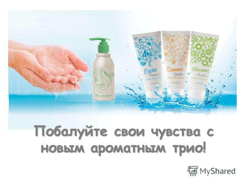 All soaps + dispenser Побалуйте свои чувства с новым ароматным трио!