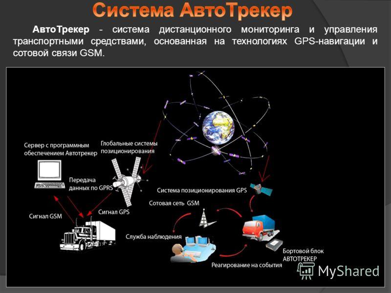 АвтоТрекер - система дистанционного мониторинга и управления транспортными средствами, основанная на технологиях GPS-навигации и сотовой связи GSM.