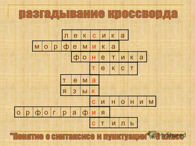 лексика морфемика фонетика текст тема язык синоним орфография стиль