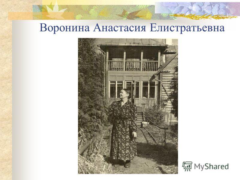 Воронина Анастасия Елистратьевна