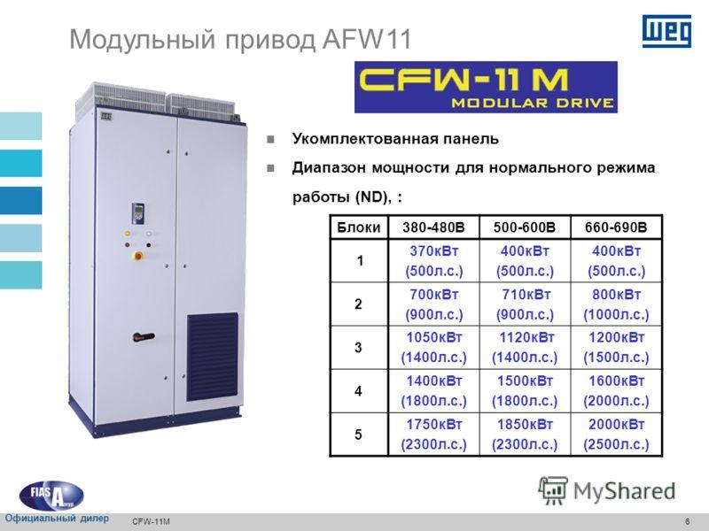 5 Модульный блок выпрямителя – RMW11 CFW-11M Официальный дилер