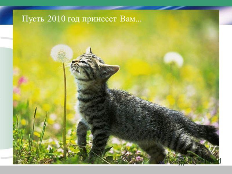Пусть 2010 год принесет Вам...