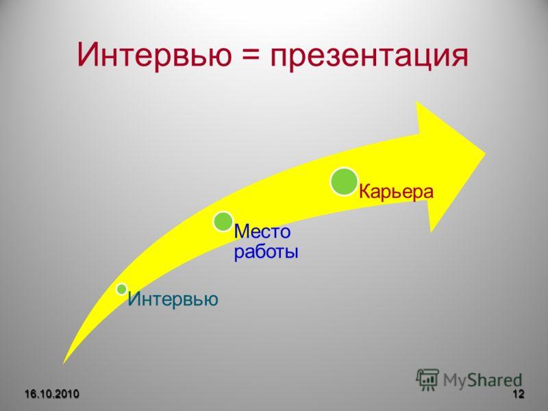 Интервью = презентация 16.10.201012