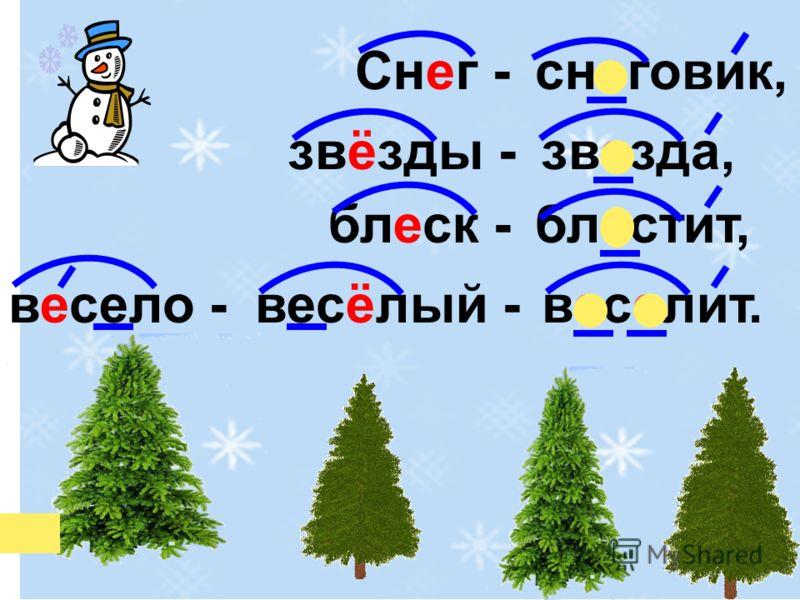 снеговик, звезда, блестит, веселит. Снег - звёзды - блеск - весёлый -весело -