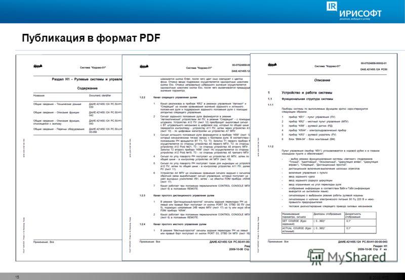 Публикация в формат PDF © 2008 PTC 15