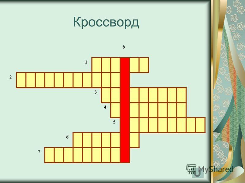 Кроссворд 8 1 2 3 4 5 6 7