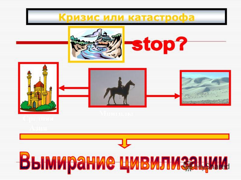 Кризис или катастрофа Средняя Азия Монголы