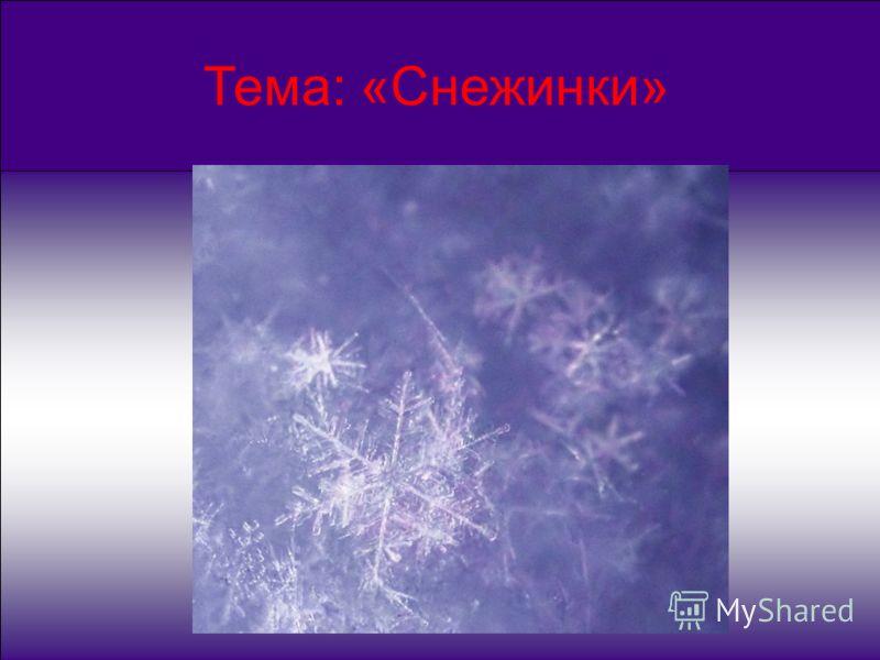 Тема: «Снежинки»