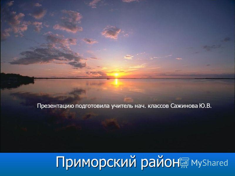 Приморский район Презентацию подготовила учитель нач. классов Сажинова Ю.В.