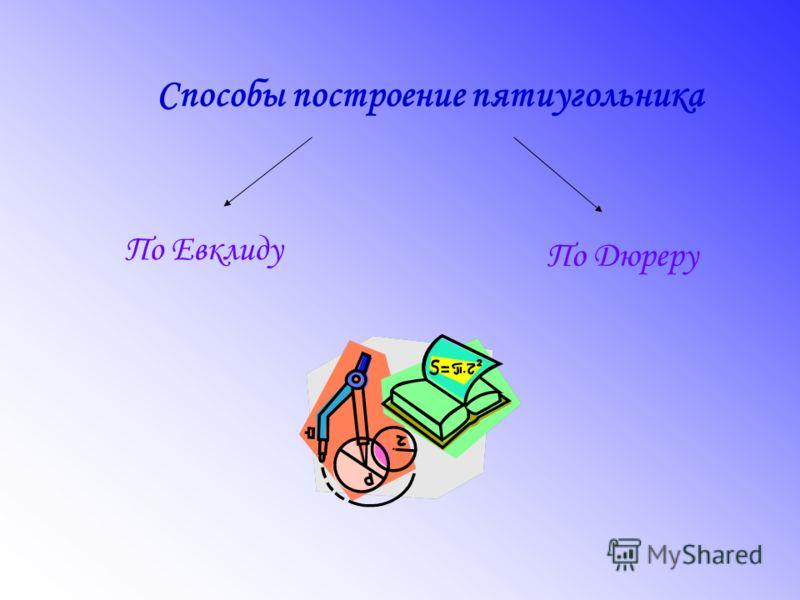 Способы построение пятиугольника По Дюреру По Евклиду