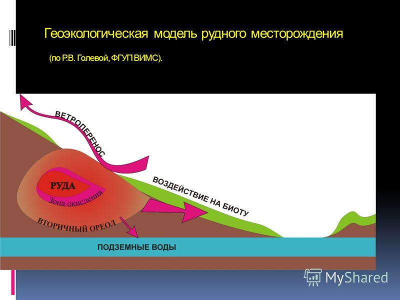 Геоэкологическая модель рудного месторождения (по Р.В. Голевой, ФГУП ВИМС).