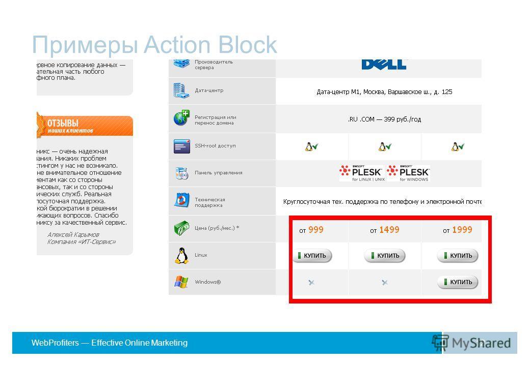 WebProfiters Effective Online Marketing Примеры Action Block 12