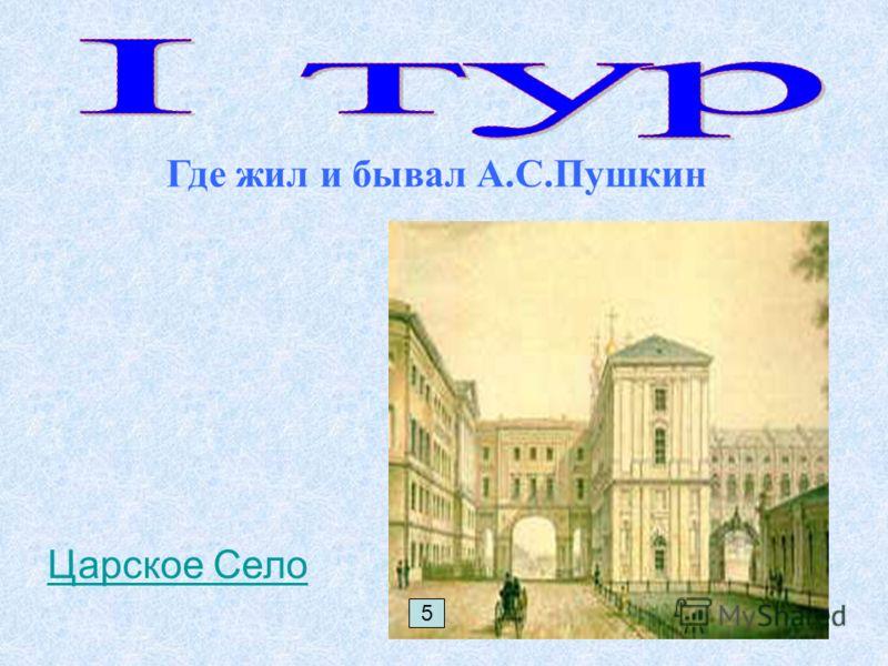 Где жил и бывал А.С.Пушкин 5 Царское Село