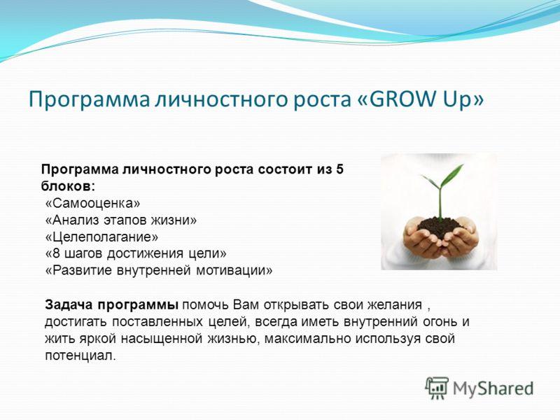 Программа для личностного роста