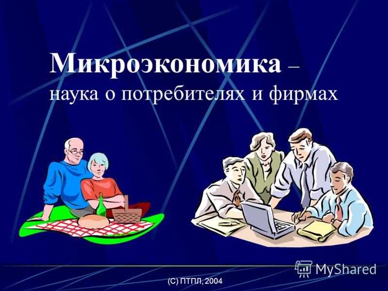 (C) ПТПЛ, 2004 экономика микро- экономика макро- экономика