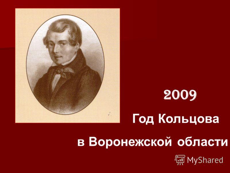 2009 Год Кольцова в Воронежской области