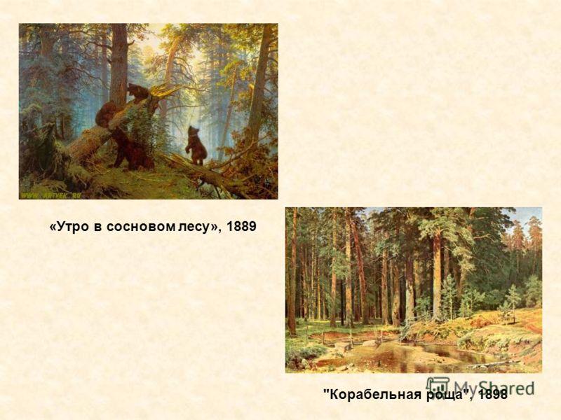 «Утро в сосновом лесу», 1889 Корабельная роща, 1898
