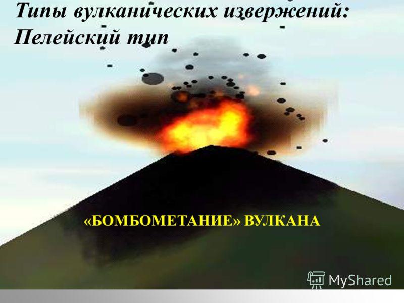 Типы вулканических извержений: Пелейский тип «БОМБОМЕТАНИЕ» ВУЛКАНА