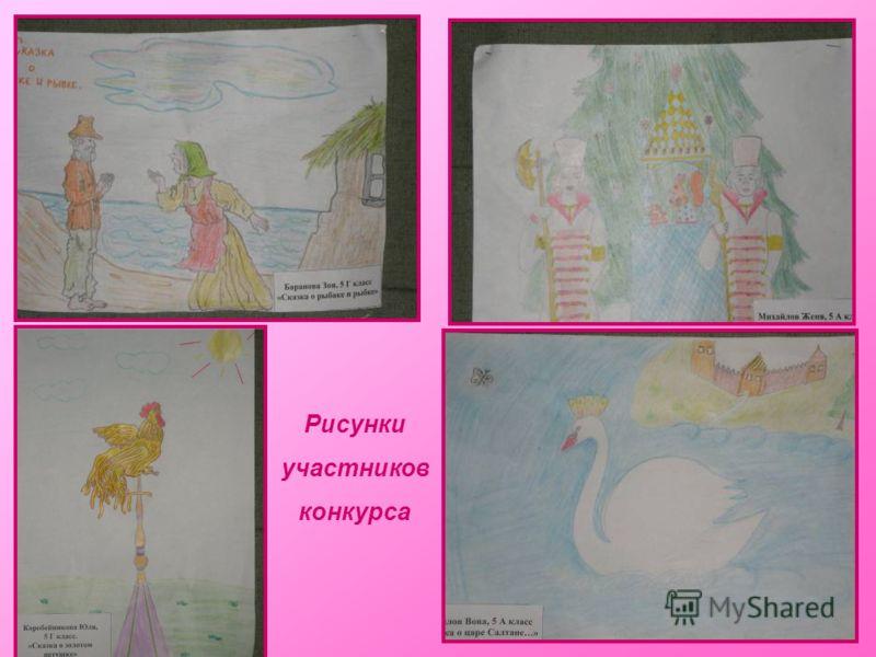 Рисунки участников конкурса