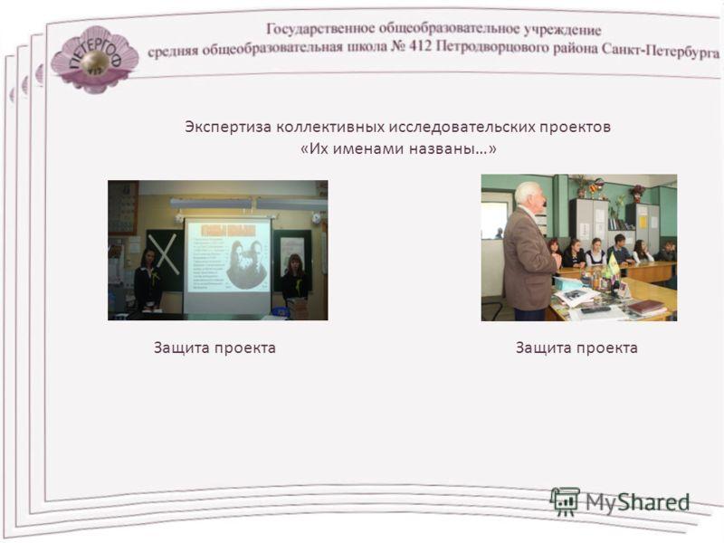 Экспертиза коллективных исследовательских проектов «Их именами названы…» Защита проекта