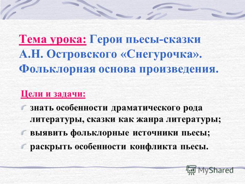 пьесы островского на сценах театров: