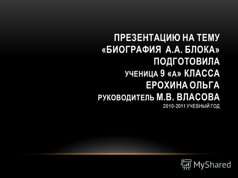 Александр Блок Биография Презентация