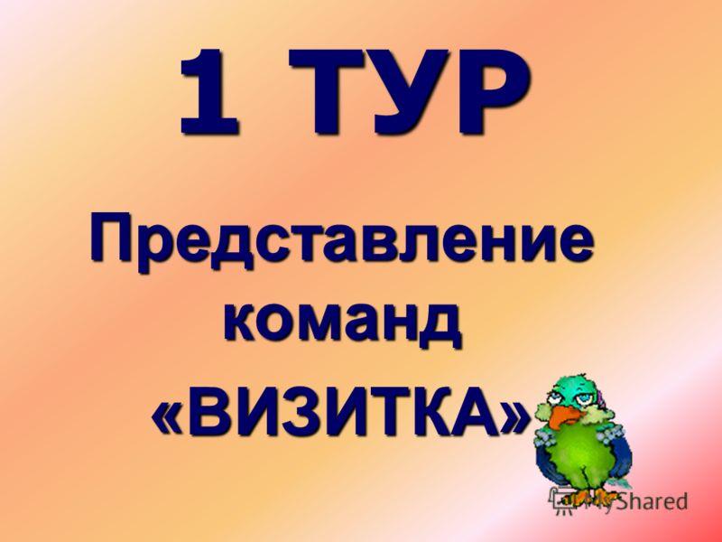 1 ТУР Представление команд «ВИЗИТКА»