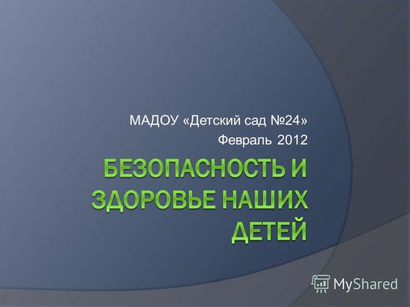 МАДОУ «Детский сад 24» Февраль 2012