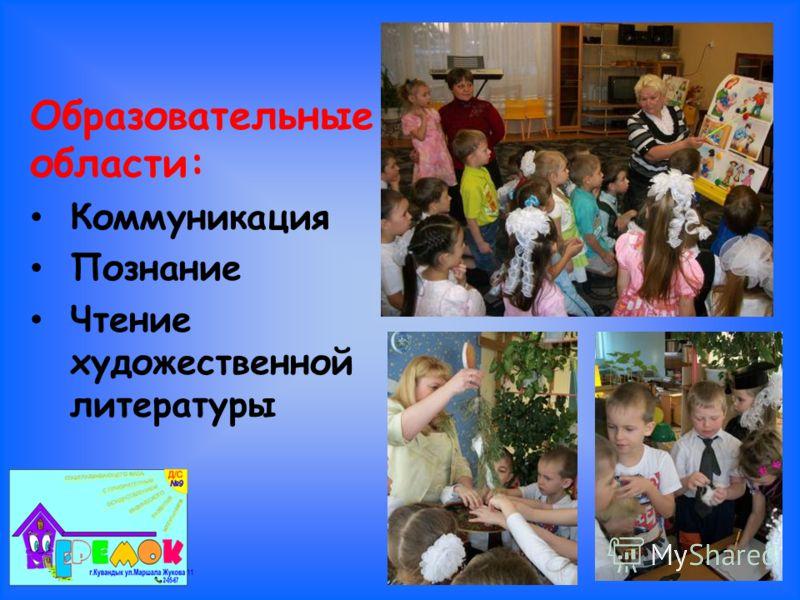 Образовательные области: Коммуникация Познание Чтение художественной литературы