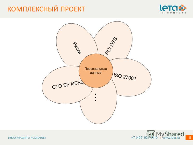 ИНФОРМАЦИЯ О КОМПАНИИ 8 КОМПЛЕКСНЫЙ ПРОЕКТ +7 (495) 921 1410 / www.leta.ru