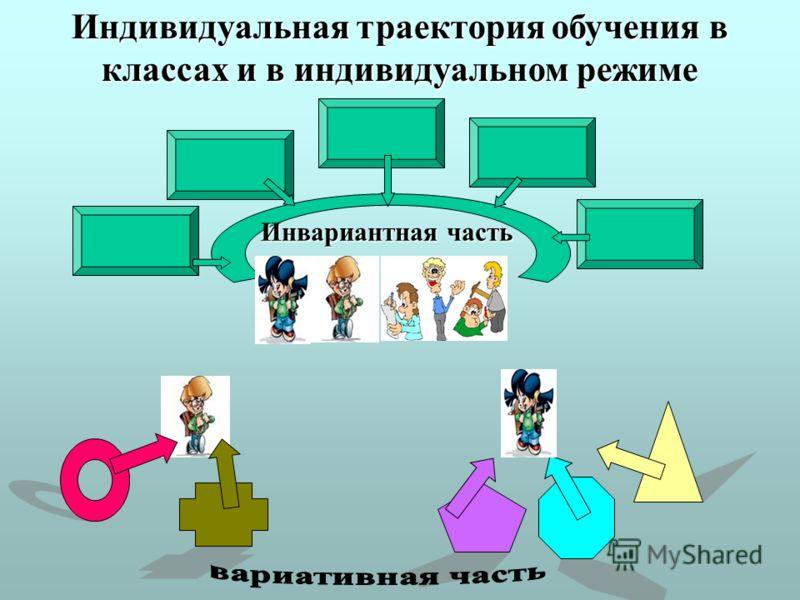Индивидуальная траектория обучения в классах и в индивидуальном режиме