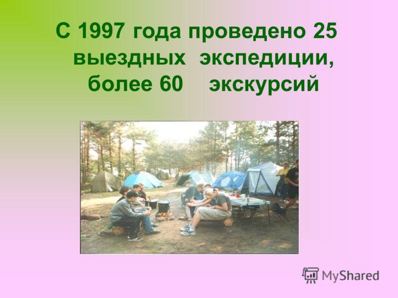 С 1997 года проведено 25 выездных экспедиции, более 60 экскурсий