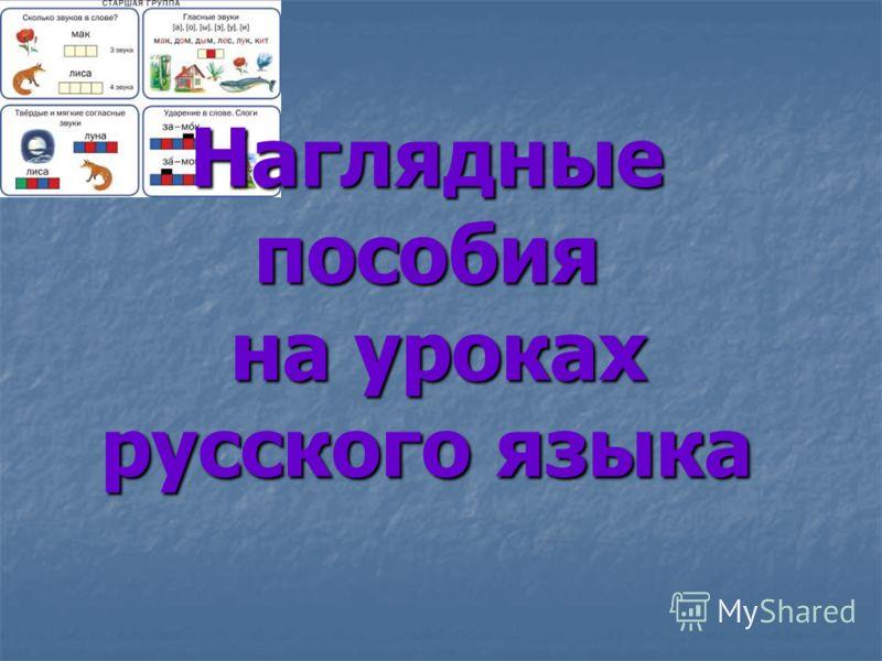 Наглядные пособия на уроках русского языка