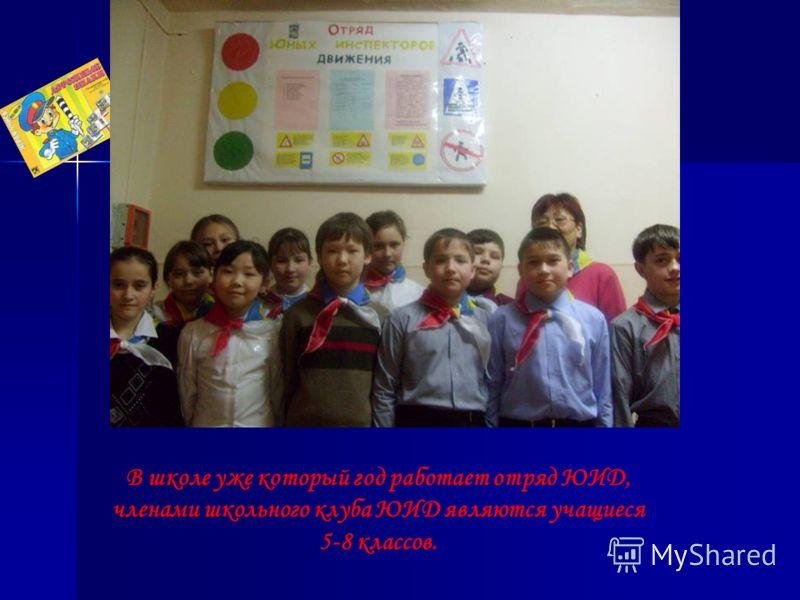 В школе уже который год работает отряд ЮИД, членами школьного клуба ЮИД являются учащиеся 5-8 классов.