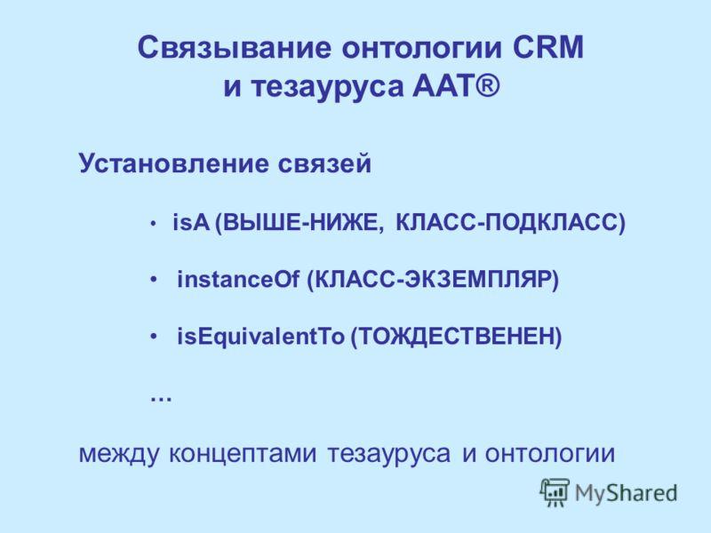 The CIDOC-СRM – Иерархия свойств