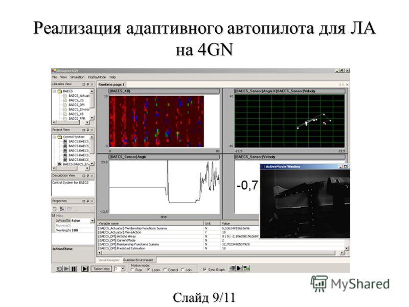 Реализация адаптивного автопилота для ЛА на 4GN Cлайд 9/11