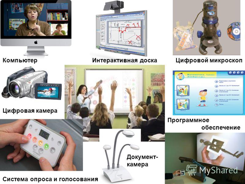 Компьютер Цифровая камера Интерактивная доскаЦифровой микроскоп Документ- камера Система опроса и голосования Программное обеспечение