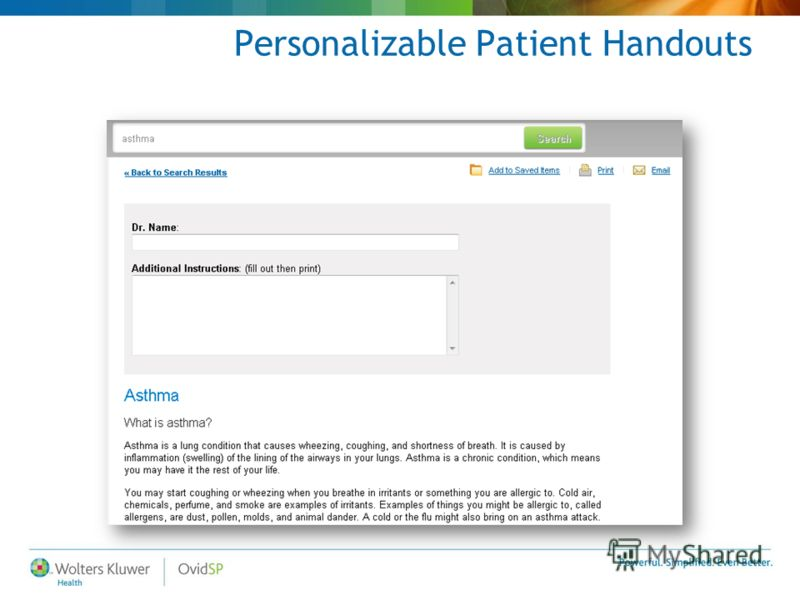 Personalizable Patient Handouts
