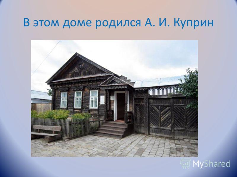 В этом доме родился А. И. Куприн