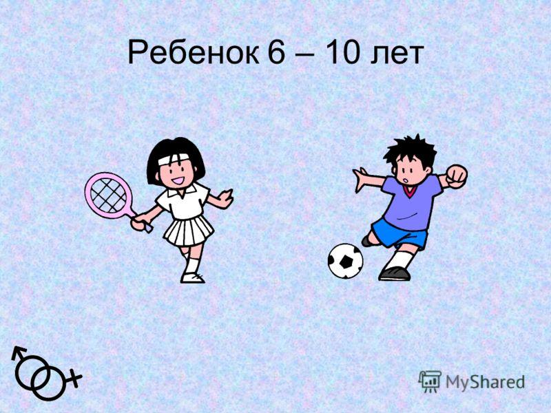 Ребенок 6 – 10 лет