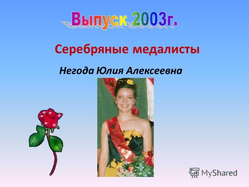 Серебряные медалисты Негода Юлия Алексеевна