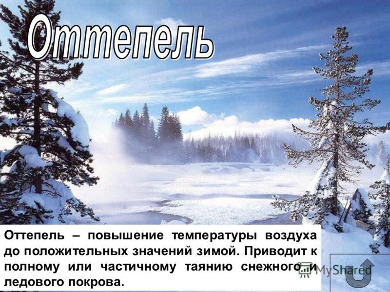 Сугроб – наметенная ветром куча снега.