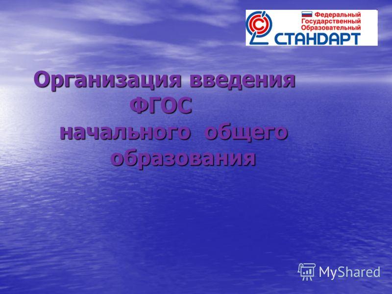 Организация введения ФГОС начального общего образования
