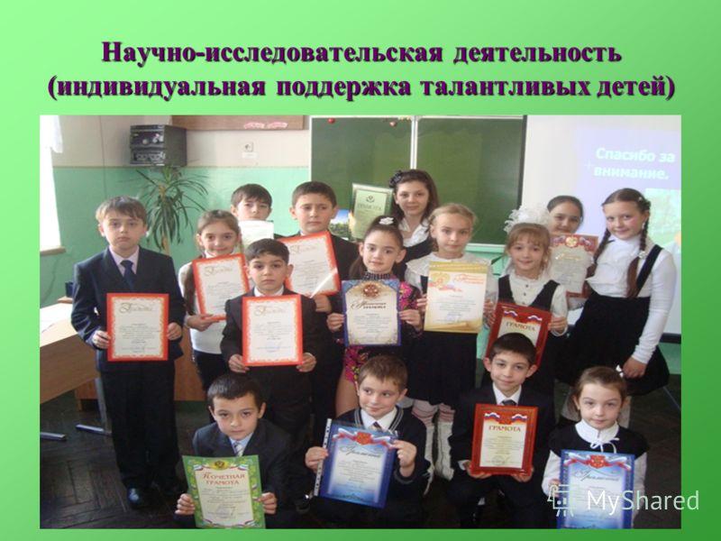 Научно-исследовательская деятельность (индивидуальная поддержка талантливых детей)