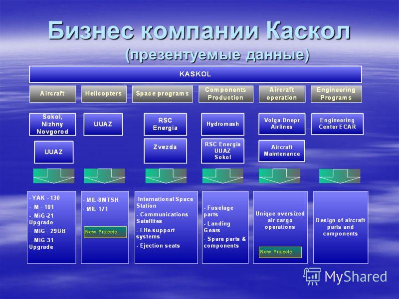 Бизнес компании Каскол (презентуемые данные)